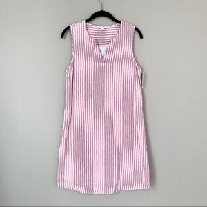 BeachLunchLounge Pink Striped Cotton/Linen Dress